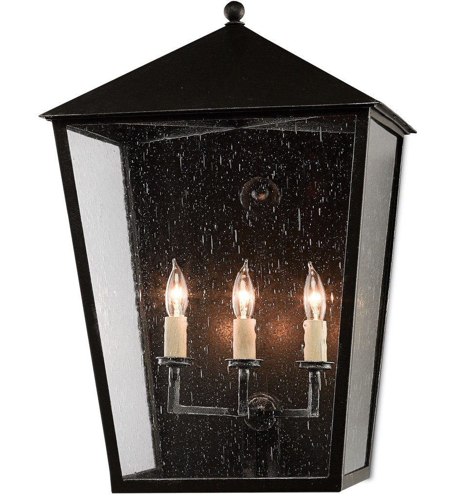 Currey & Company - 5500-0010 - Bening Midnight 22.25 Inch Outdoor Wall Sconce
