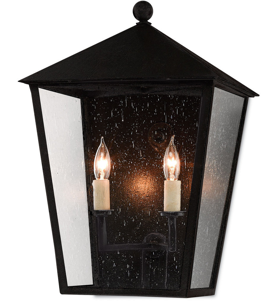 Currey & Company - 5500-0011 - Bening Midnight 17.75 Inch Outdoor Wall Sconce