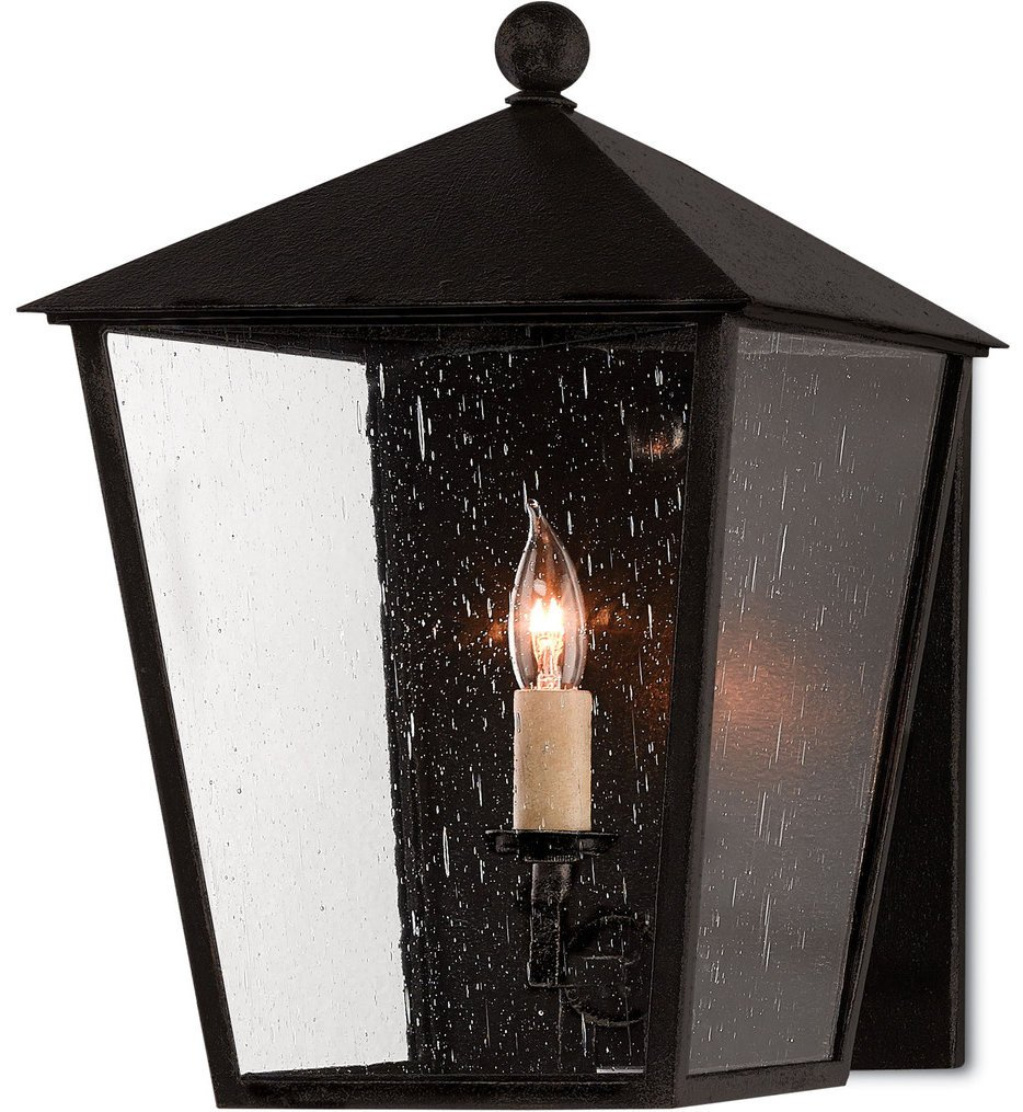 Currey & Company - 5500-0012 - Bening Midnight 14.75 Inch Outdoor Wall Sconce