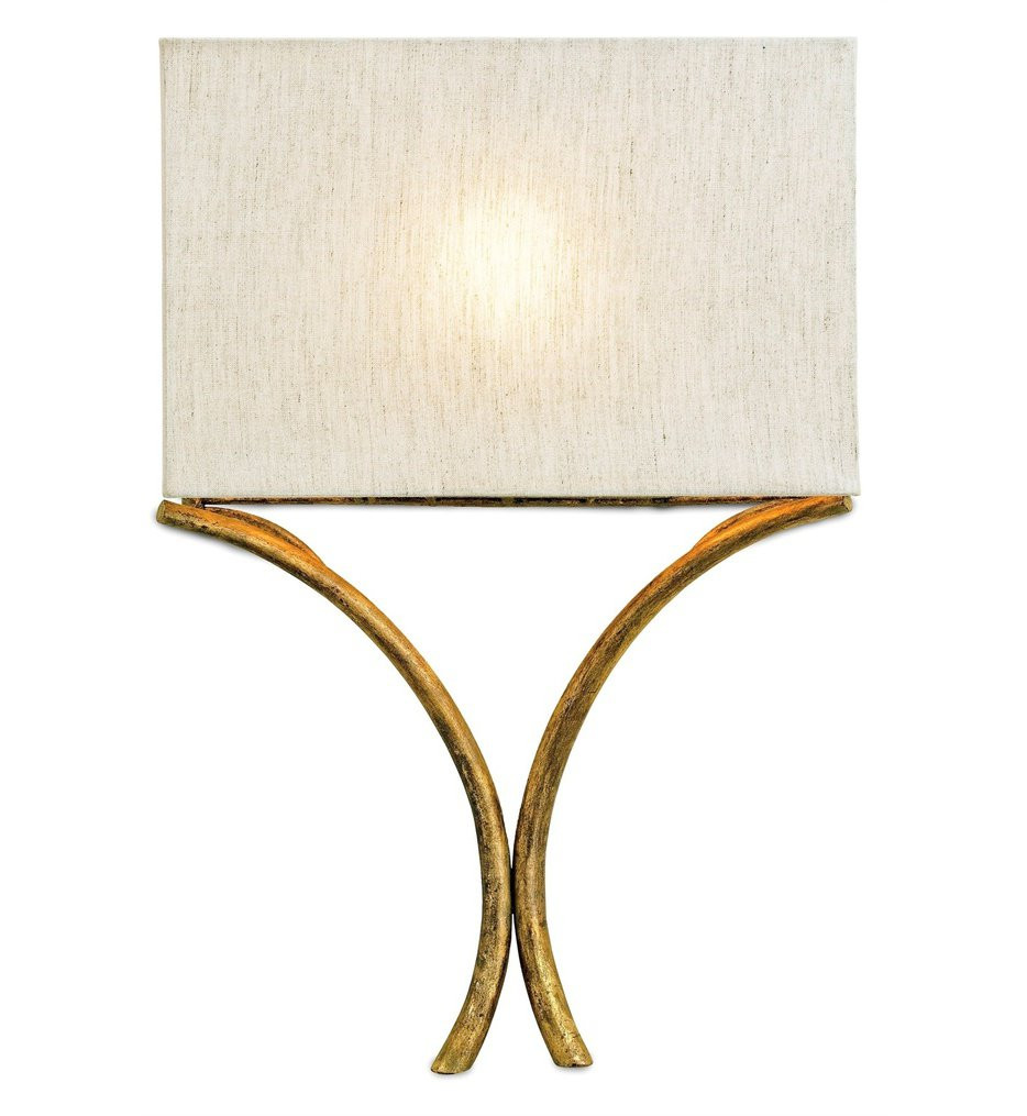 Currey & Company - 5901 - Cornwall 1 Light Wall Sconce with French Gold Leaf Finish