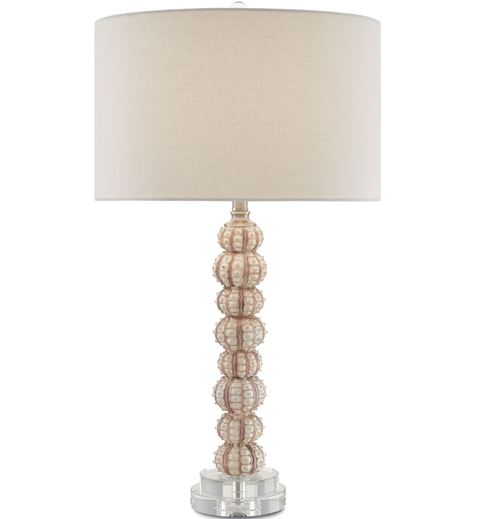 Currey & Company - 6000-0064 - Darwin Table Lamp with Cream/Purple/Pink Brushed Nickel/Clear Finish