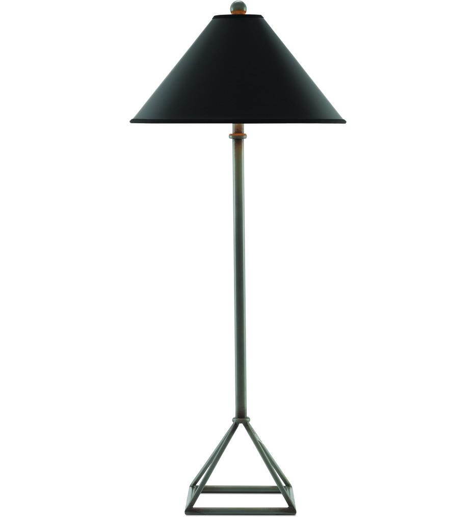 Currey & Company - 6000-0266 - Ajax Chinois Hiroshi Gray Table Lamp