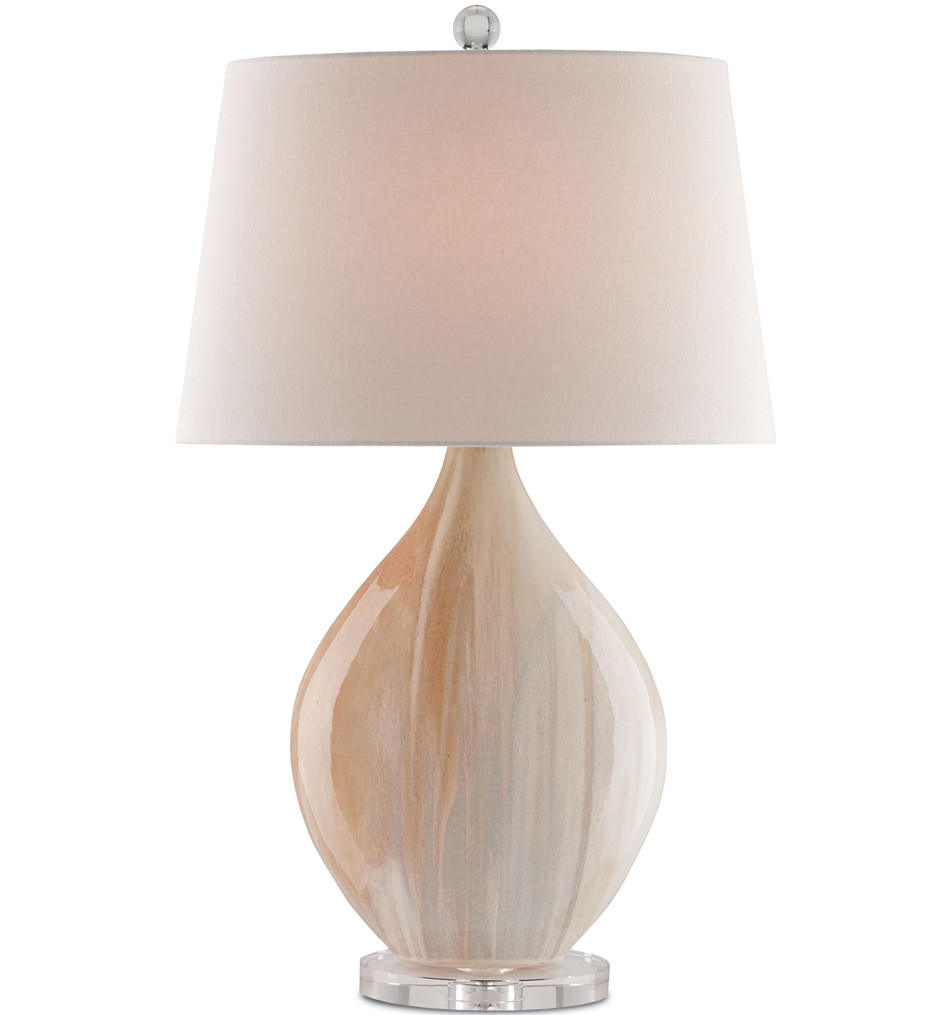 Currey & Company - 6111 - Opal Table Lamp with Amber/Clear Finish
