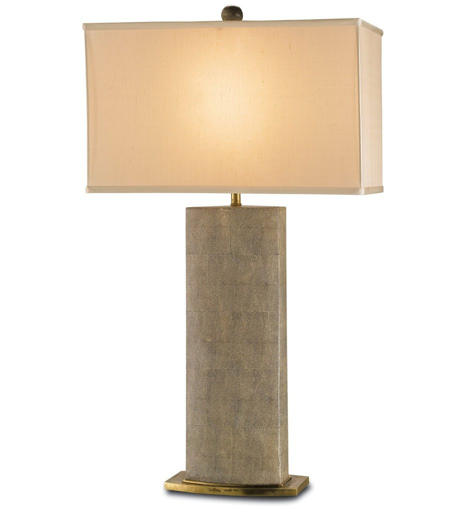 Currey & Company - 6355 - Rutherford Table Lamp with Tan Sharkskin/Brass Finish