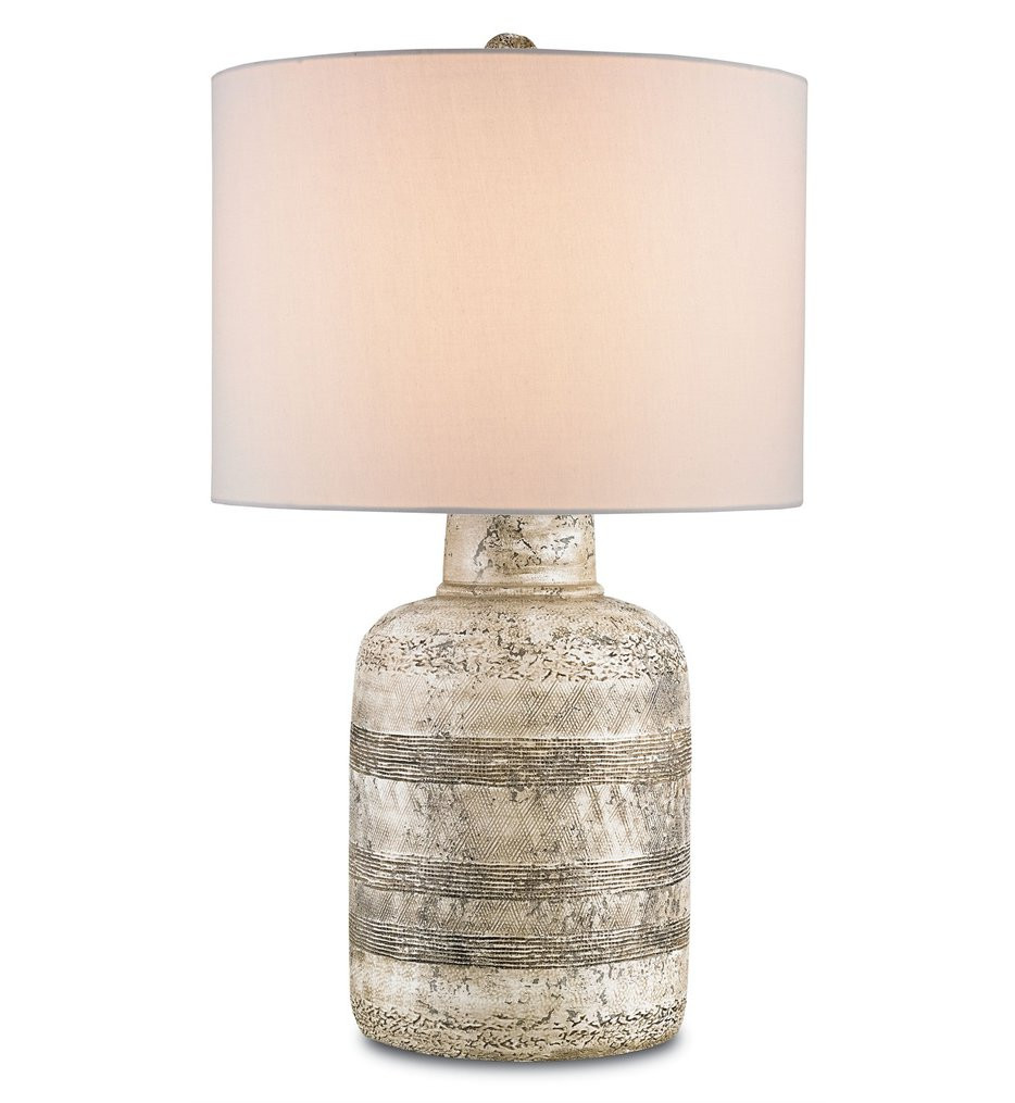 Currey & Company - 6998 - Paolo Table Lamp with Wash White Finish