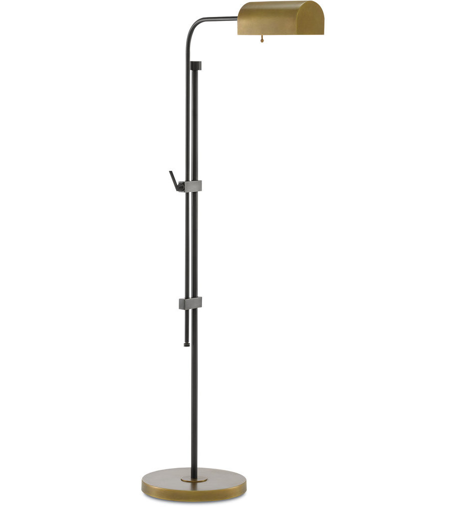 Currey & Company - 8000-0021 - Hearst Oil Rubbed Bronze/Antique Brass Floor Lamp