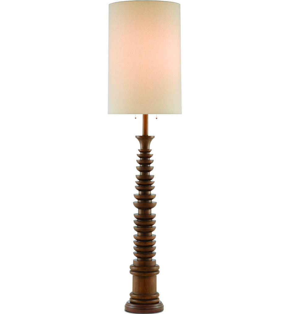 Currey & Company - 8000-0034 - Malayan Brown Floor Lamp