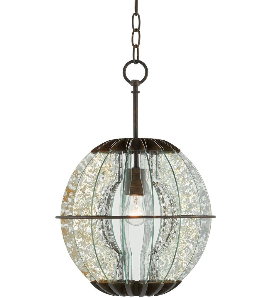 Currey & Company - 9000-0010 - Zanzibar Pendant/Semi-Flush with Light  Bronze Gold/Raj Mirror Finish
