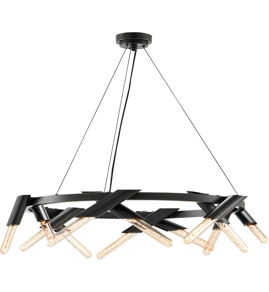 Currey & Company - 9000-0240 - Luciole Oil Rubbed Bronze Chandelier