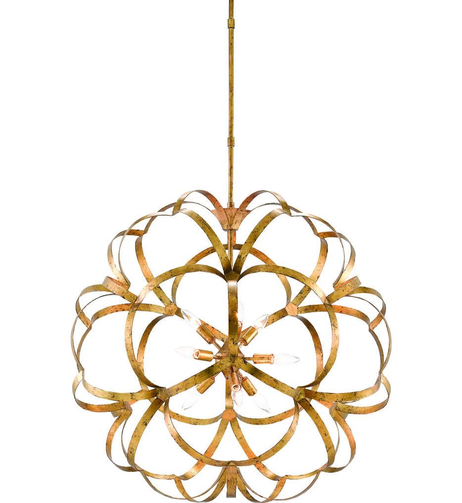 Currey & Company - 9000-0259 - Sappho New Gold Leaf Chandelier