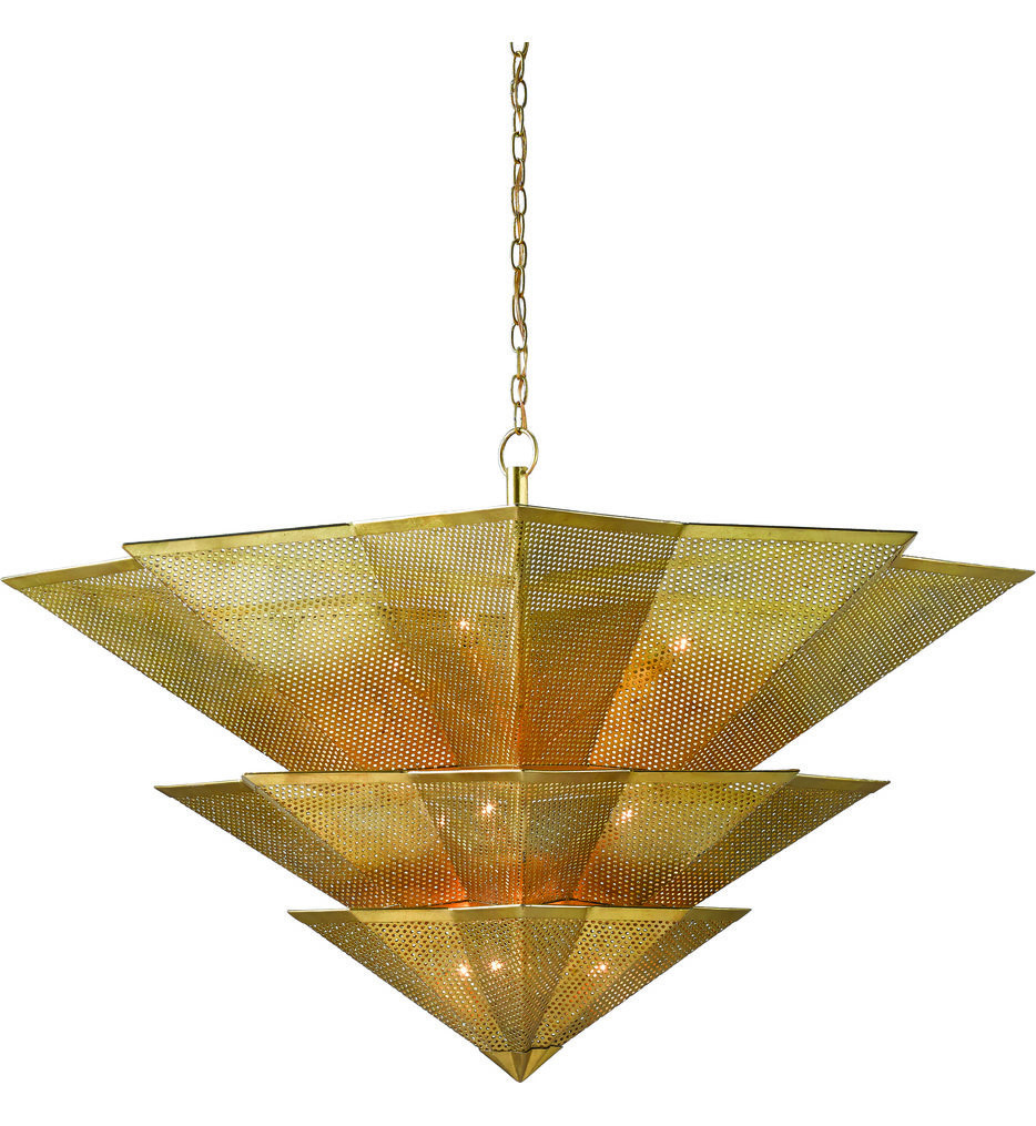 Currey & Company - 9000-0359 - Hanway Antique Gold Leaf Chandelier