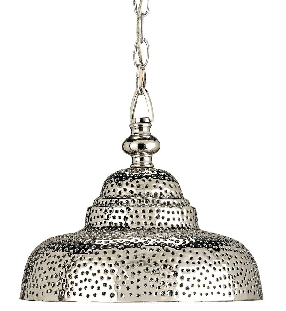 Currey & Company - 9114 - Lowell 1 Light Pendant with Nickel Finish