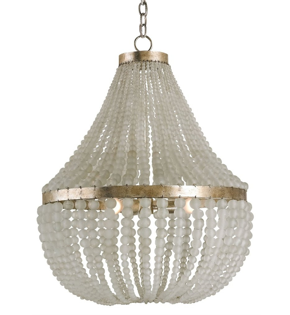 Currey & Company - 9202 - Chanteuse 3 Light Chandelier with Silver Granello Finish