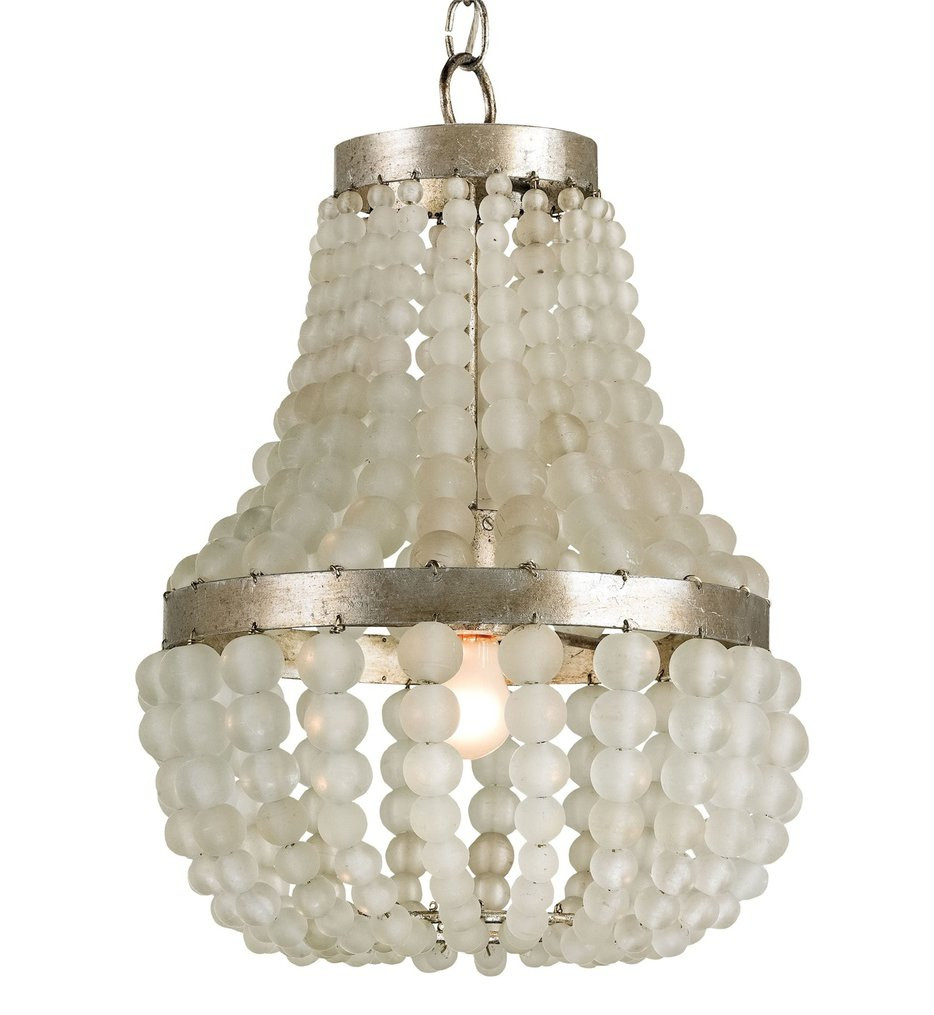 Currey & Company - 9203 - Chanteuse 1 Light Chandelier with Silver Granello Finish