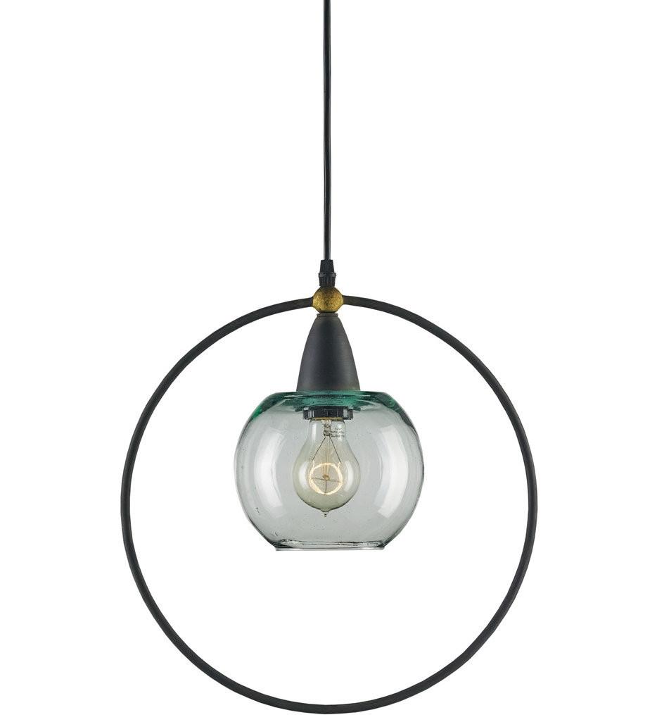 Currey & Company - 9233 - Moorsgate 1 Light Pendant with Blacksmith/Old Brass Finish