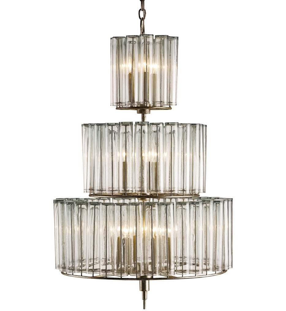 Currey & Company - 9309 - Bevilacqua 12 Light Chandelier with Silver Leaf Finish