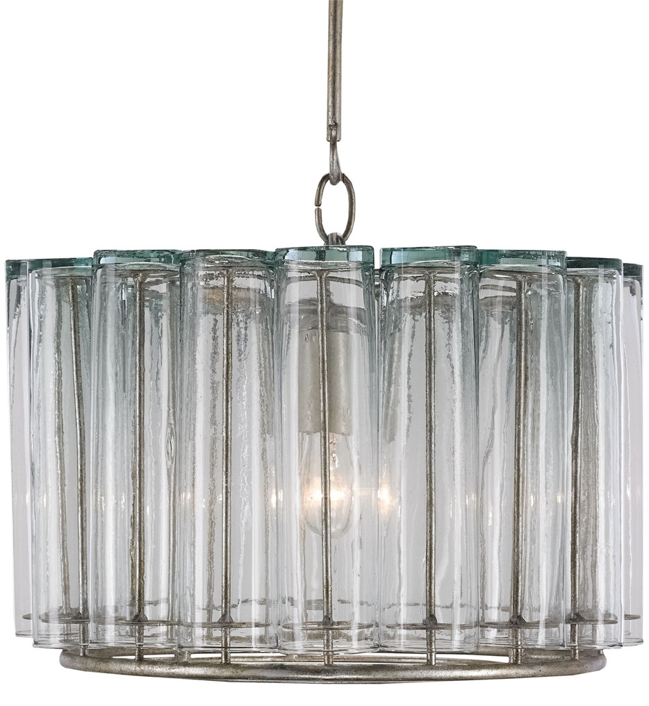 Currey & Company - 9375 - Bevilacqua 1 Light Pendant with Silver Leaf Finish