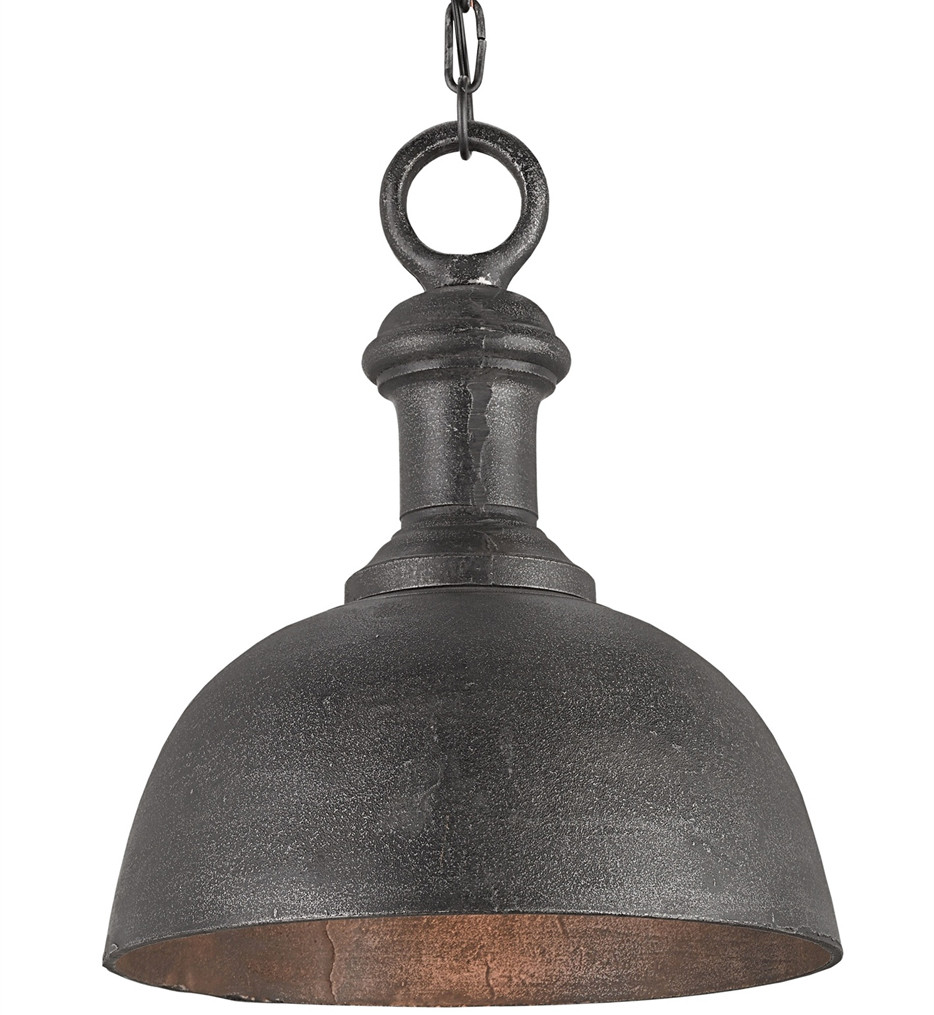 Currey & Company - 9405 - Timpano Small Pendant with Antique Charcoal Finish