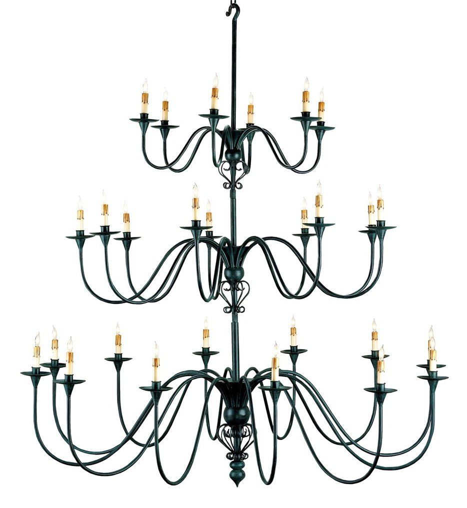 Currey & Company - 9516 - Titan 27 Light Chandelier with Antique Black Finish