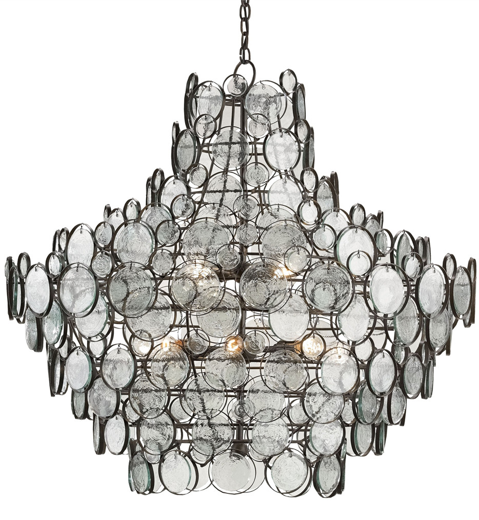 Currey & Company - 9520 - Galahad 12 Light Chandelier with Bronze Finish