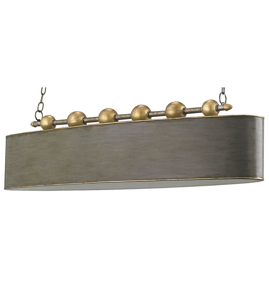Currey & Company - 9584 - Stillman 4 Light Chandelier with Antique Gold Leaf/Pyrite Bronze Finish