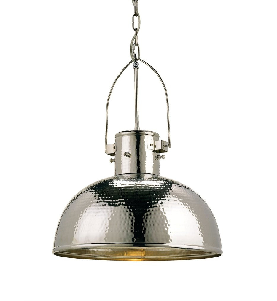 Currey & Company - 9696 - Syllabus 1 Light Pendant with  Nickel Finish