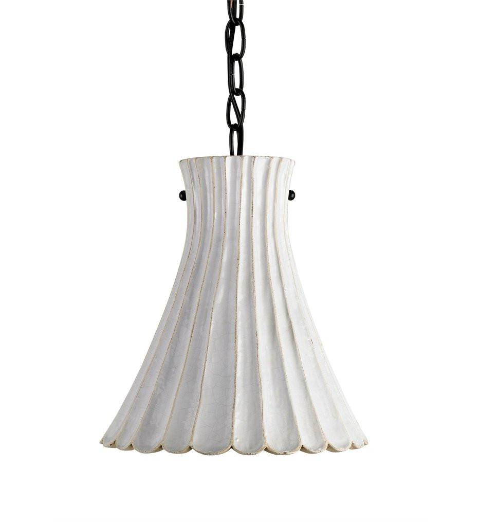 Currey & Company - 9901 - Jazz 1 Light Pendant with Satin Black/White Crackle Finish