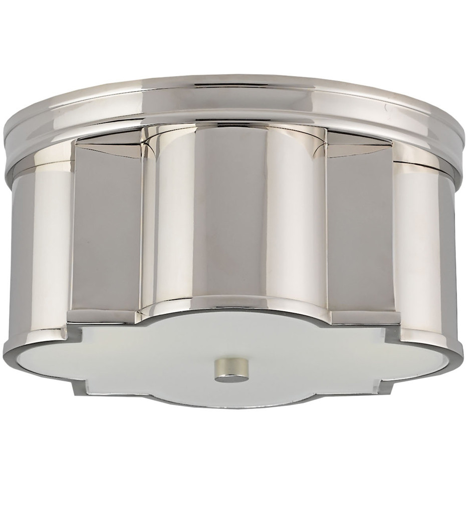 Currey & Company - 9999-0007 - Wicklow Flush Mount with Polished Nickel Finish