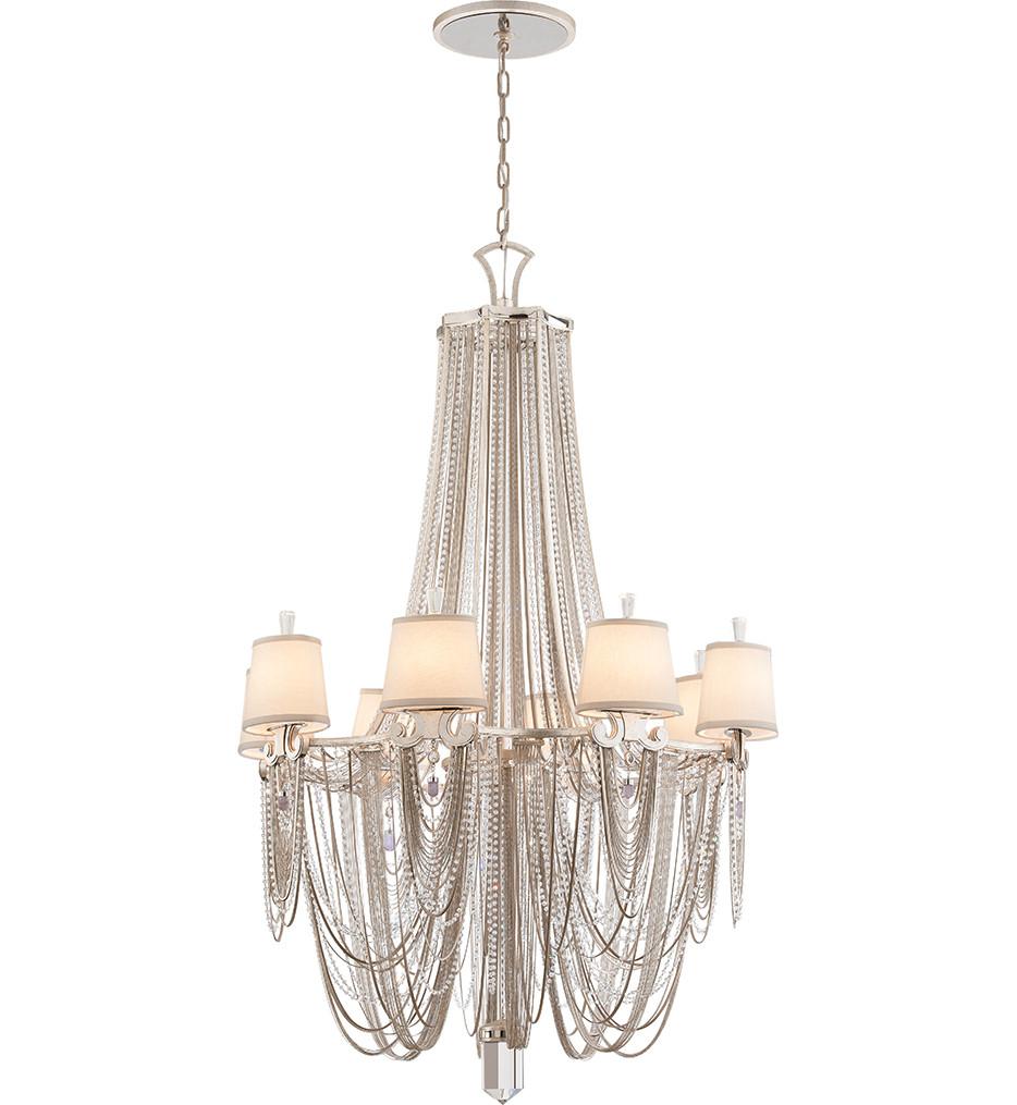 Corbett Lighting - 157-08 - Flirt 8 Light Modern Silver Chandelier