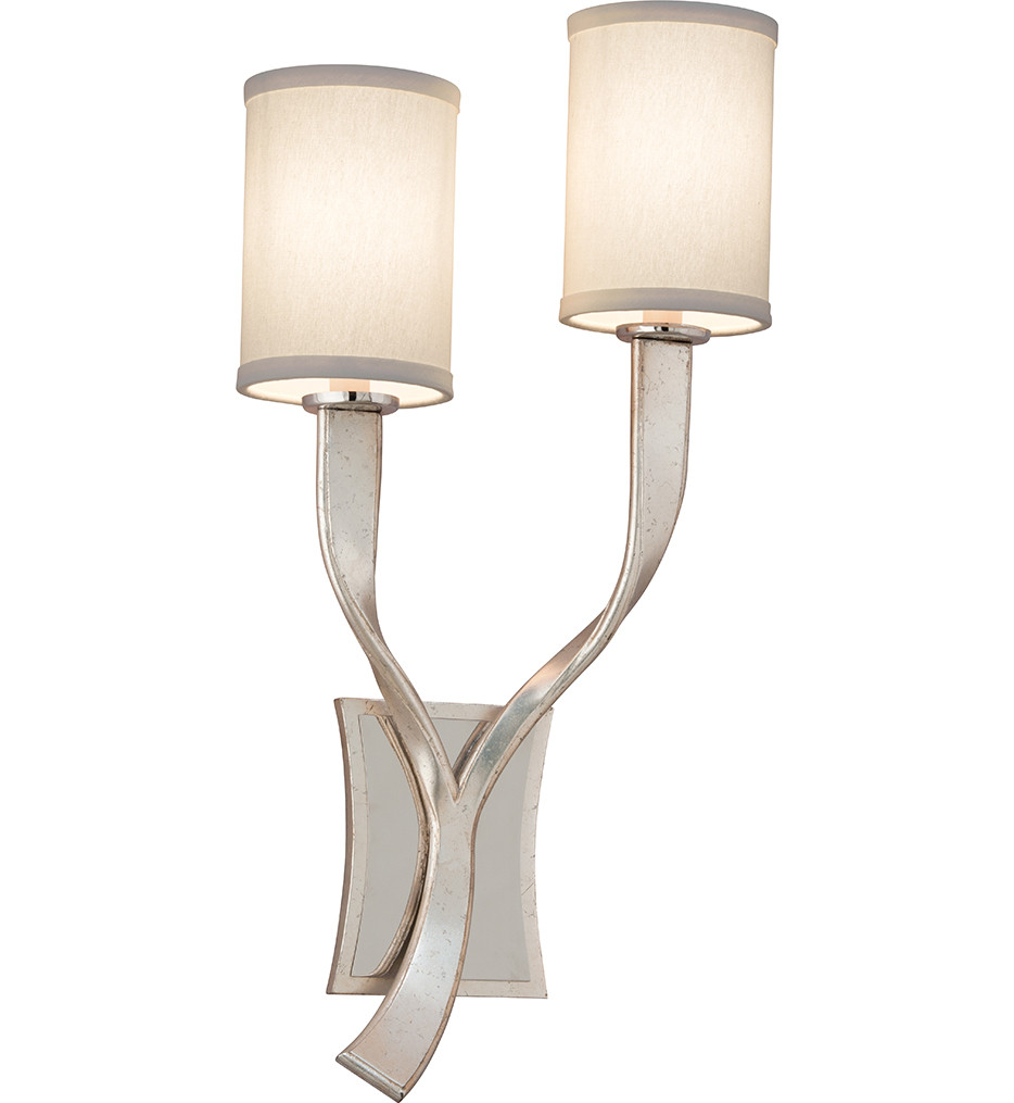 Corbett Lighting - 158-11 - Roxy 2 Light Modern Silver Leaf Left Wall Sconce
