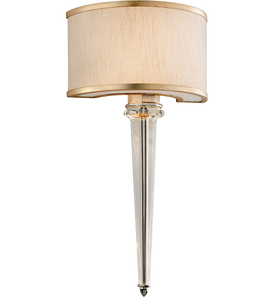 Corbett Lighting - 166-12 - Harlow 2 Light Tranquility Silver Leaf Wall Sconce