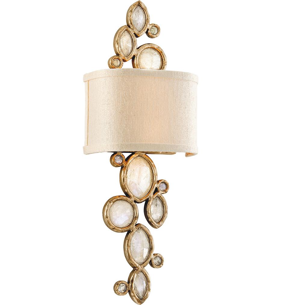 Corbett Lighting - 167-12 - Fame & Fortune 2 Light Brazilian Silver Leaf Wall Sconce