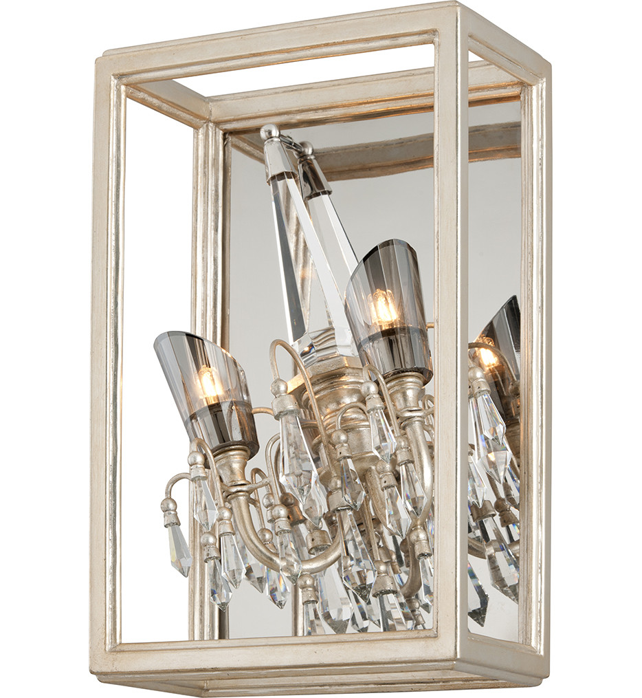 Corbett Lighting - 177-13 - Houdini 2 Light Silver Leaf with Gold Leaf Wall Sconce