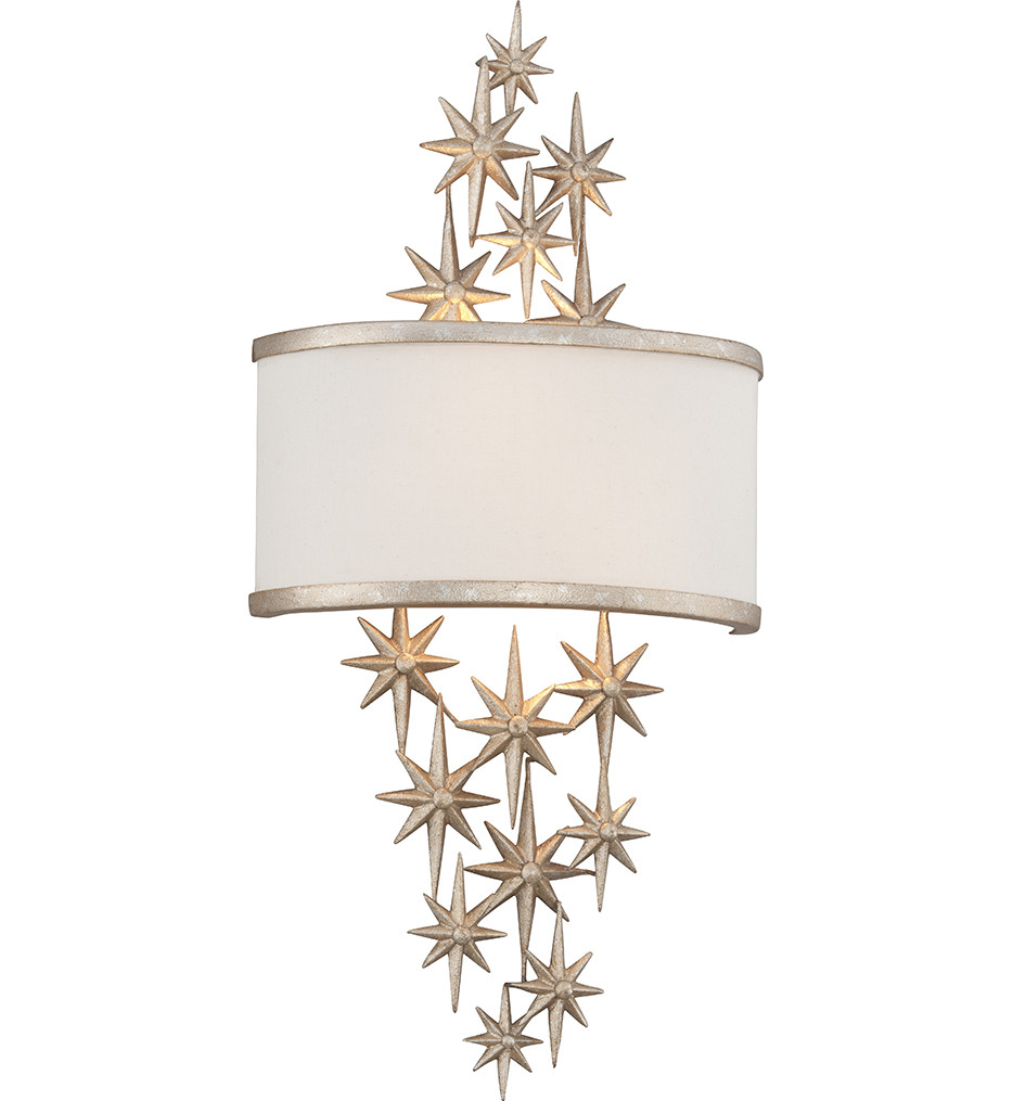 Corbett Lighting - 200-12 - Superstar 2 Light Silver Leaf Medium Wall Sconce