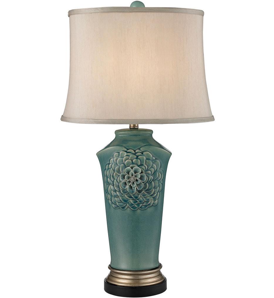 Dimond - Organic Flowers Seafoam, Gold, & Bronze Table Lamp