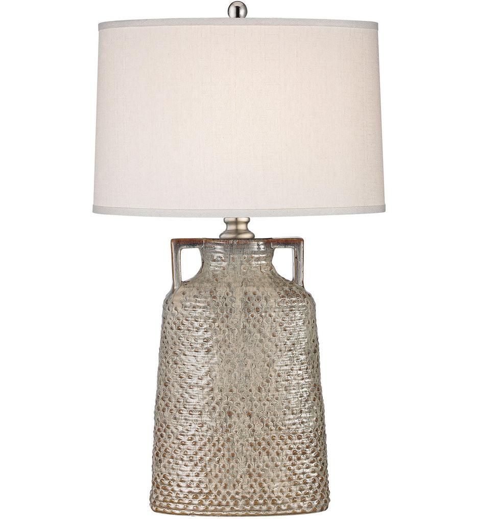 Dimond - D2923 - Naxos Charring Cream Glaze Table Lamp