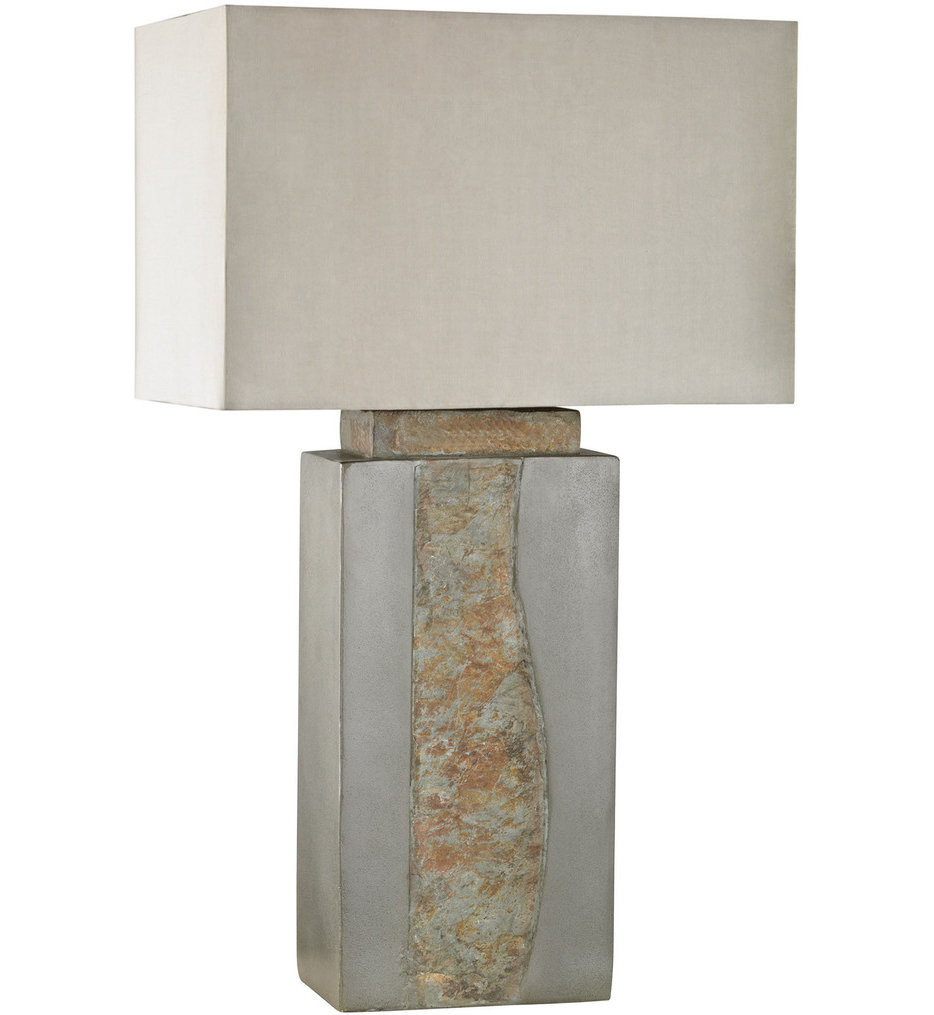 Dimond - Musee Grey & Natural Slate Outdoor Table Lamp