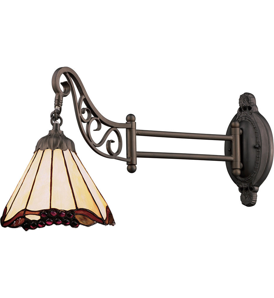 ELK Lighting - Mix-N-Match Tiffany Bronze 1 Light Swing Arm Light
