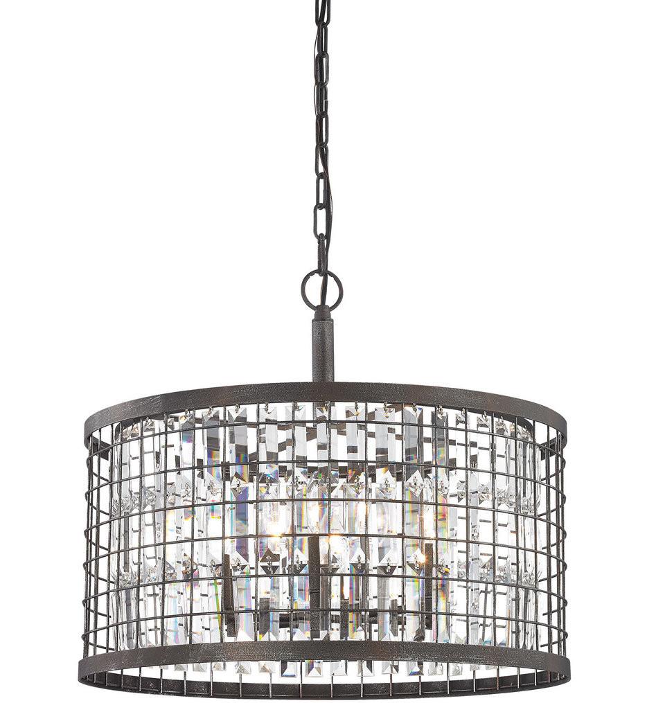 ELK Lighting - 14344/6 - Nadina Silverdust Iron 6 Light Chandelier