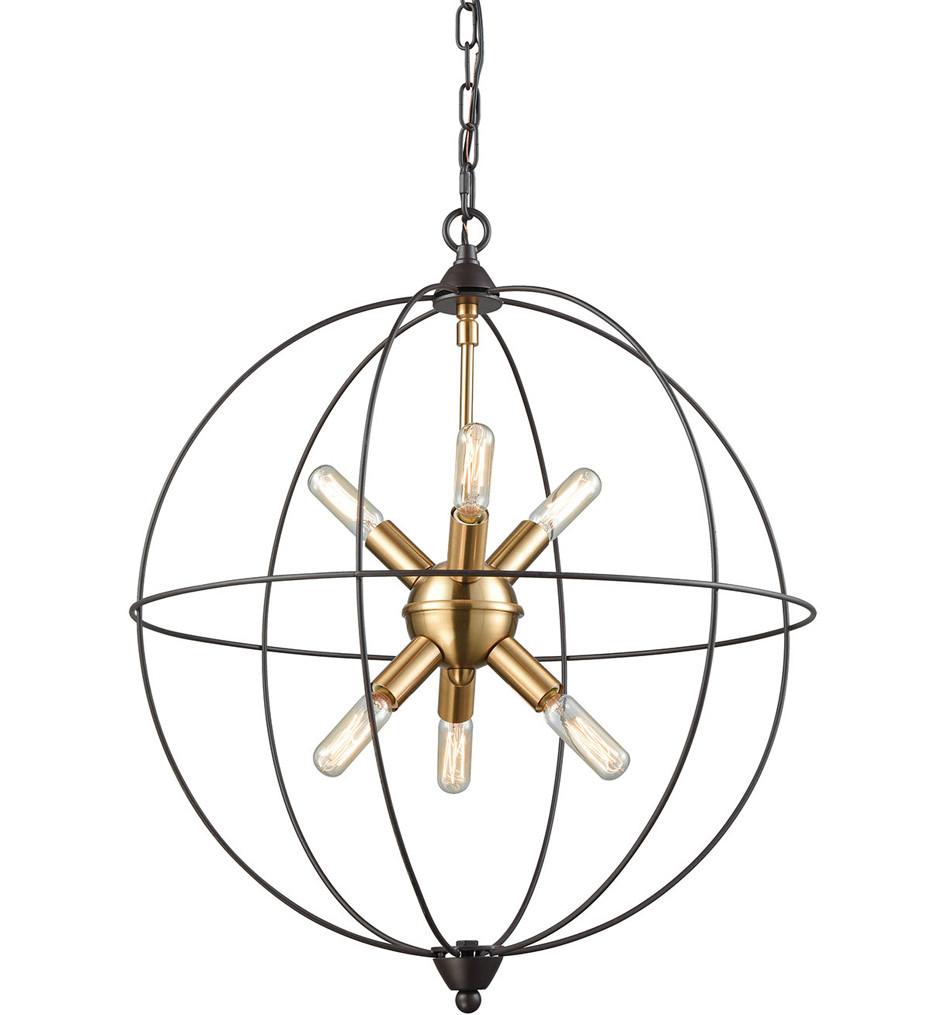 ELK Lighting - 14511/6 - Loftin Oil Rubbed Bronze & Satin Brass 6 Light Chandelier
