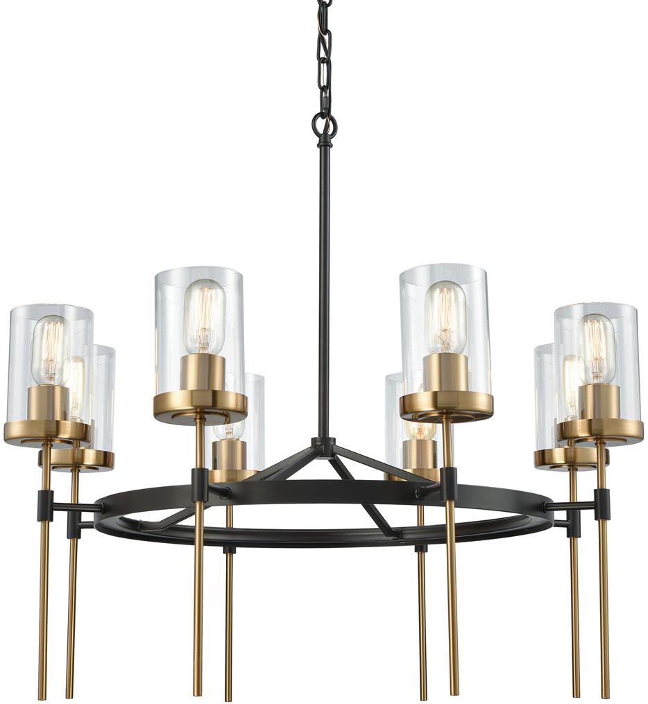 ELK Lighting - 14554/8 - North Haven Oil Rubbed Bronze & Satin Brass 31 Inch 8 Light Chandelier