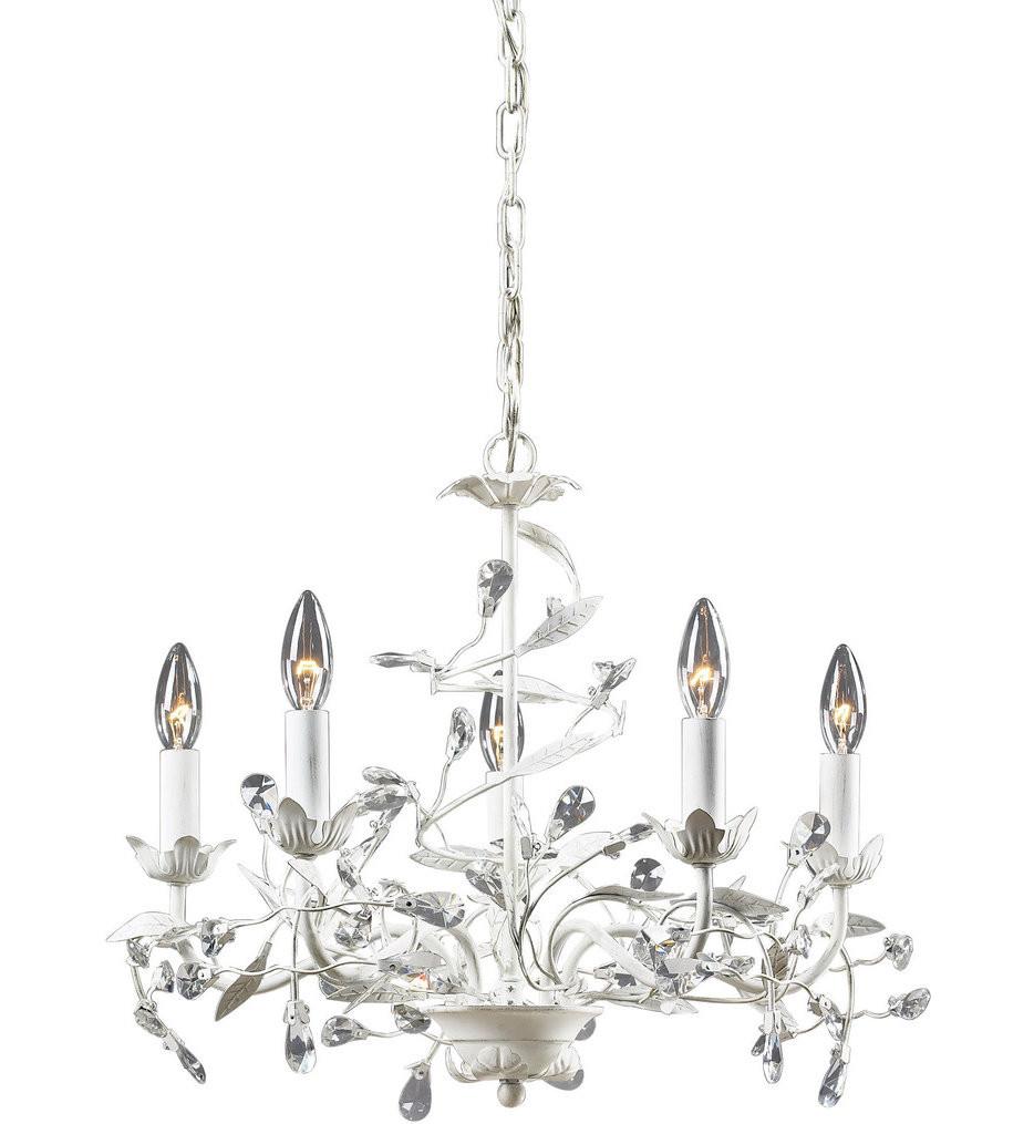 ELK Lighting - 18113/5 - Circeo Antique White 21 Inch 5 Light Chandelier