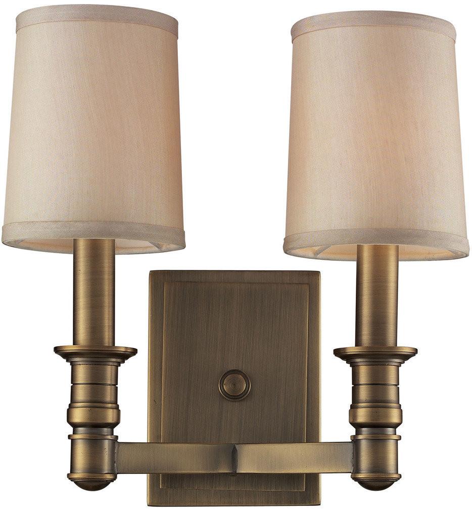 ELK Lighting - 31261/2 - Baxter Brushed Antique Brass 12 Inch 2 Light Wall Sconce