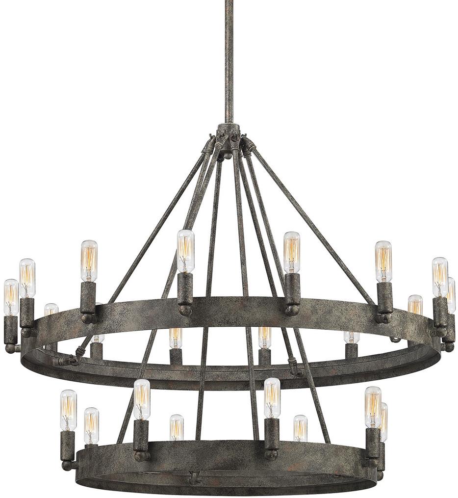 ELK Lighting - 31823/8+14 - Lewisburg Malted Rust 22 Light Chandelier
