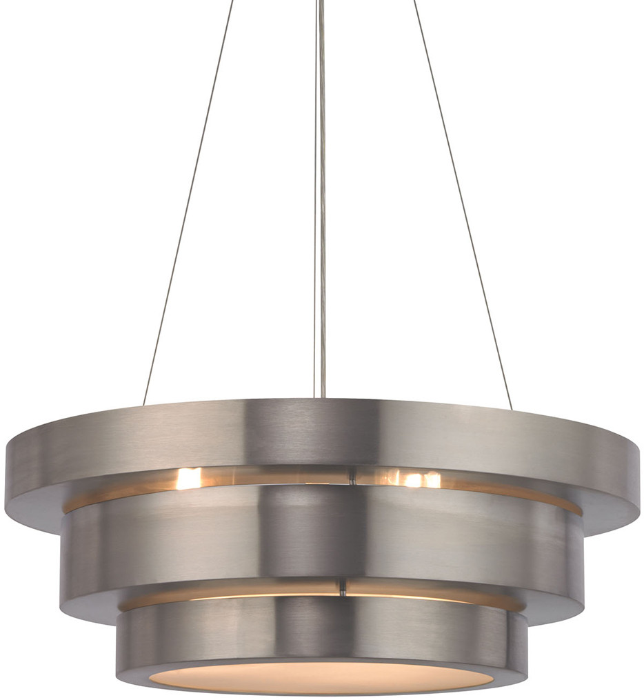ELK Lighting - Layers Brushed Stainless 3 Light Chandelier