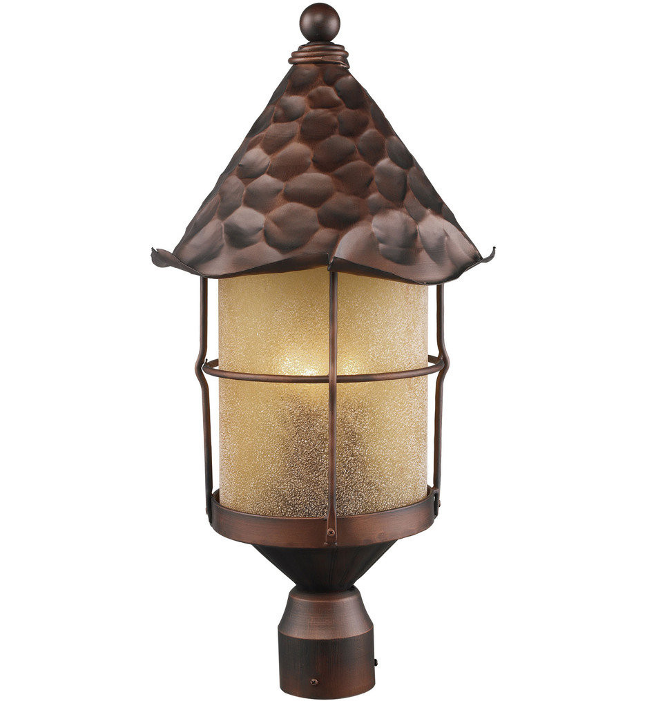 ELK Lighting - Rustica 3 Light Outdoor Post Light