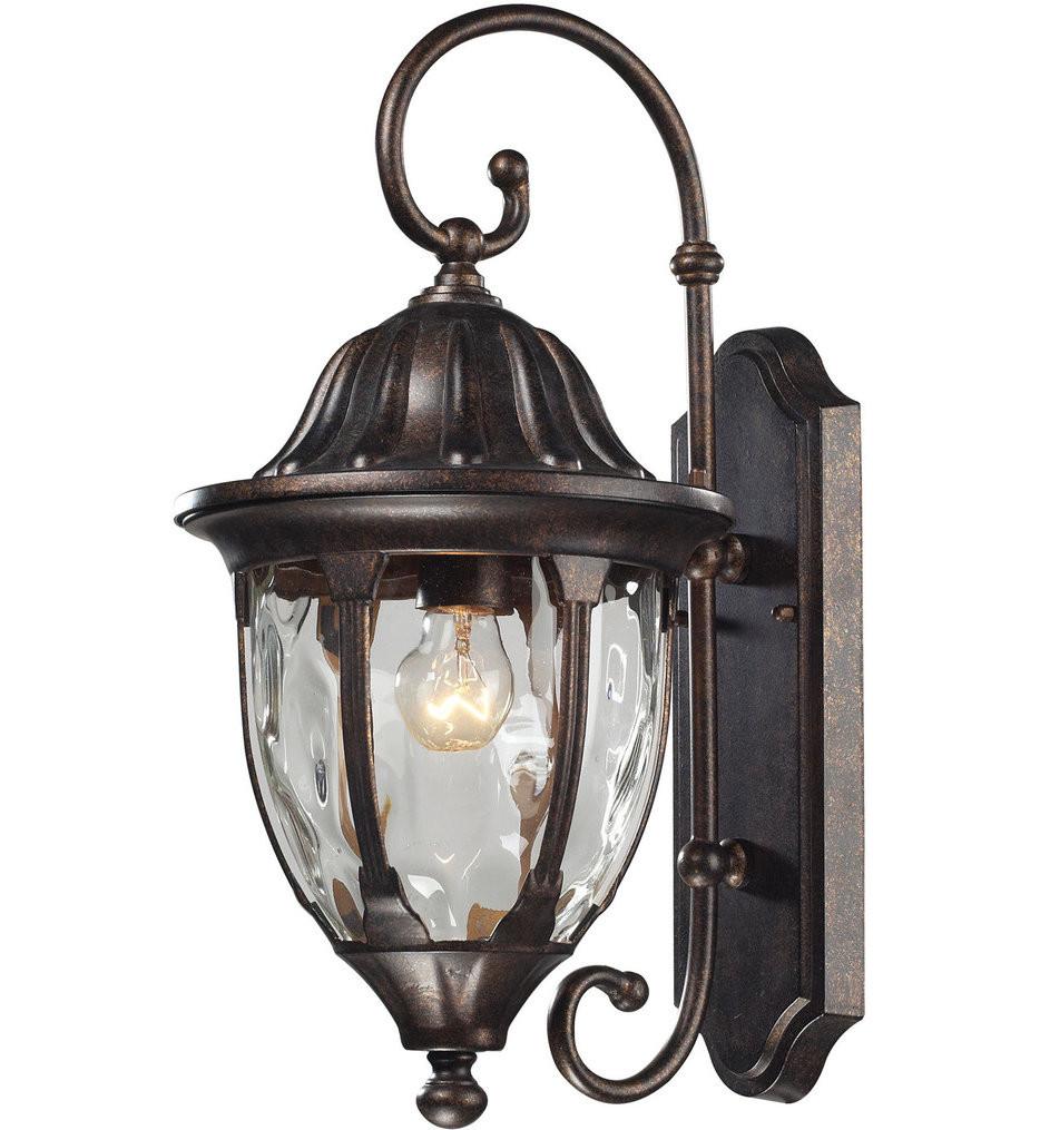 ELK Lighting - 45003/1 - Glendale Regal Bronze 9 Inch 1 Light Outdoor Wall Sconce