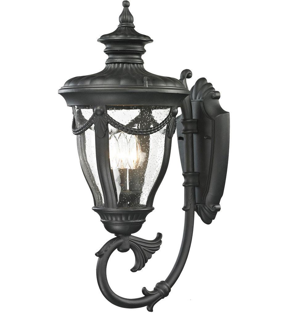 ELK Lighting - 45077/3 - Anise Textured Matte Black 11 Inch 3 Light Outdoor Wall Sconce