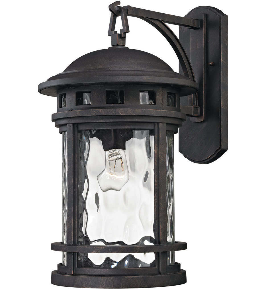 ELK Lighting - 45112/1 - Costa Mesa Weathered Charcoal 11 Inch 1 Light Outdoor Wall Lantern