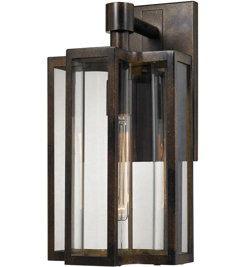 ELK Lighting - 45145/1 - Bianca Hazelnut Bronze 8 Inch 1 Light Outdoor Wall Sconce